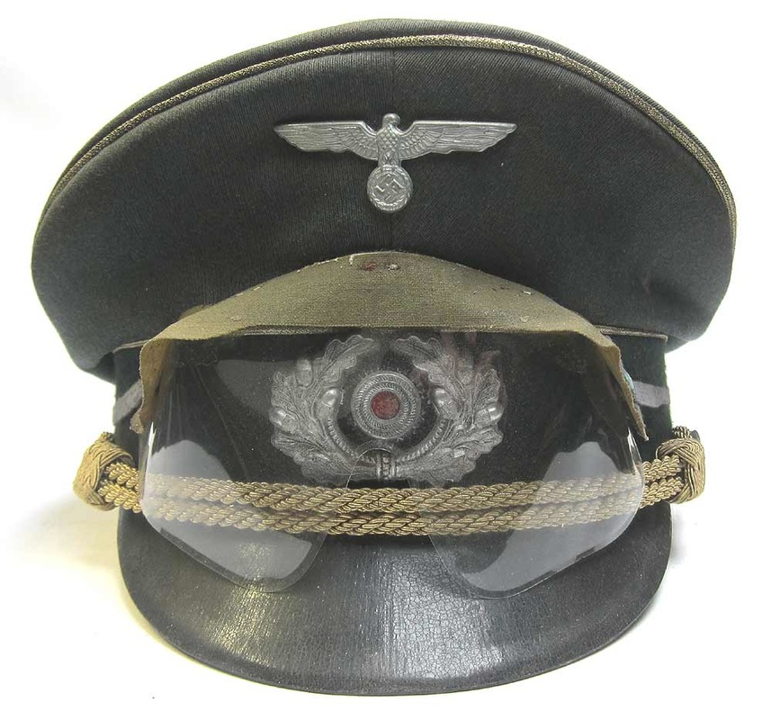 Erwin Rommel Cap with British Gas Goggles
