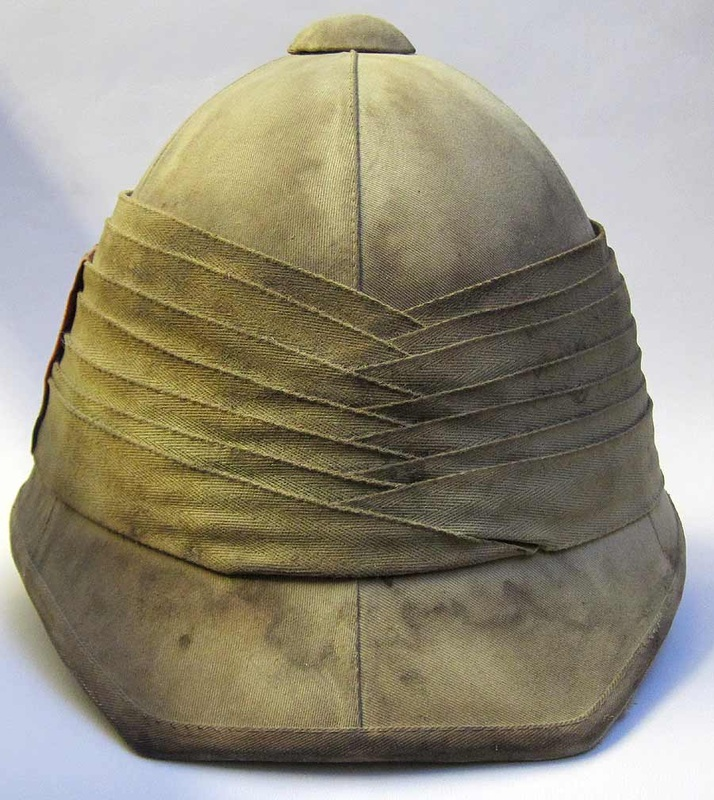 Boer War Helmet Rear View