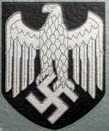 Grey Lined M35 Helmet Eagle Decal