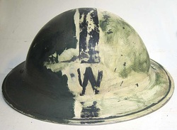 Wardens Helmet with partial paint removed