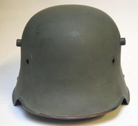 WWI Square Dip Helmet incorrect grey post war paint