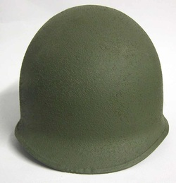 M1 Helmet Cork Texture after application