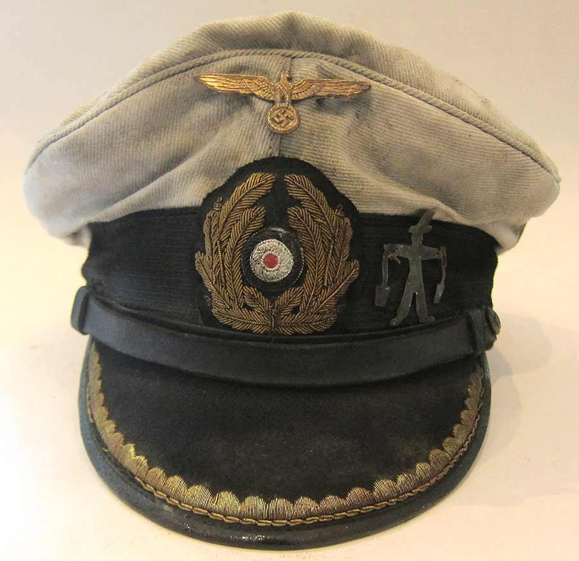 U-Boat Hat U-506 peak rank marking