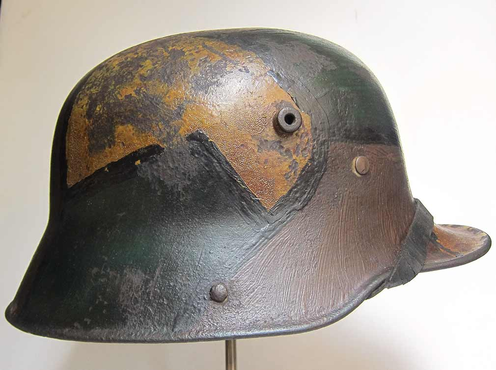 Model 16 German Helmet Rust Marks