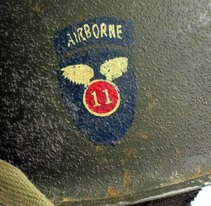 M2 11th Airborne Helmet Insignia Right view