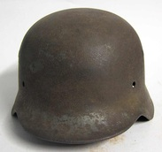 M40 Helmet Stripped. Notice solid areas showing through.