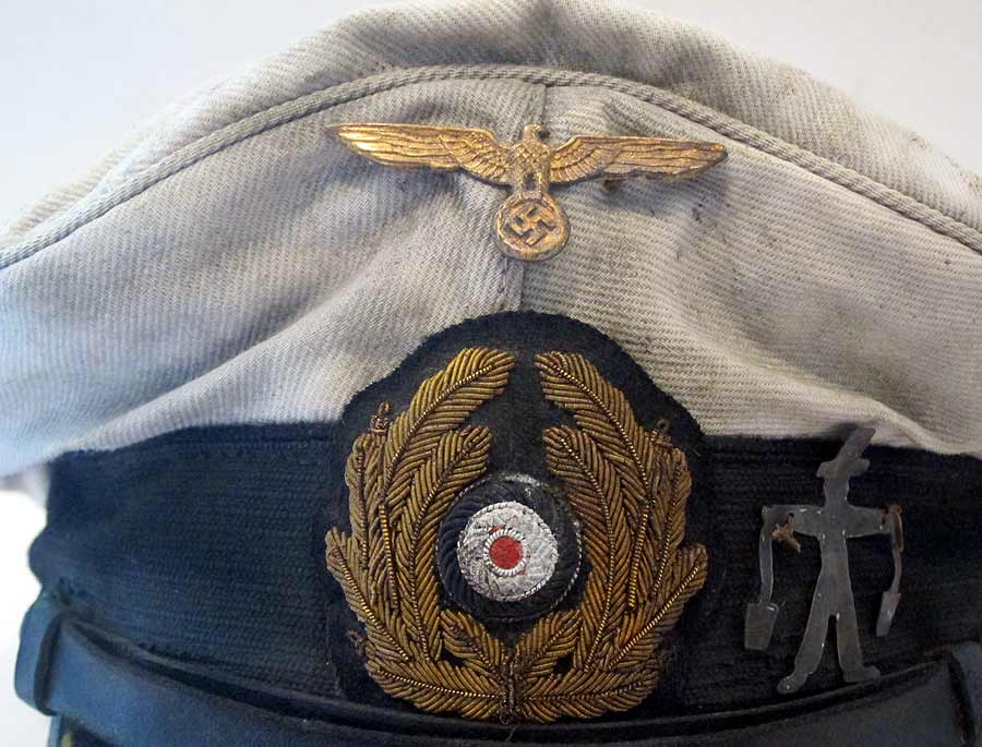 U-Boat Hat U-506 front with wreath eagle and peak