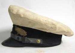 Vintage Yachting Cap with Frog Badge