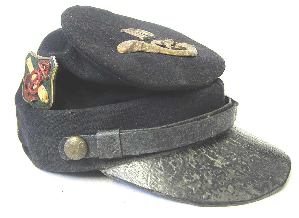 USA Civil War Kepi 25th New Jersey Infantry 3rd Division 9th Corps McDonell Kepi