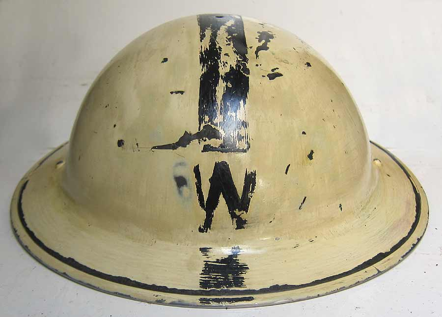 Rear of Wardens Helmet with Tinting