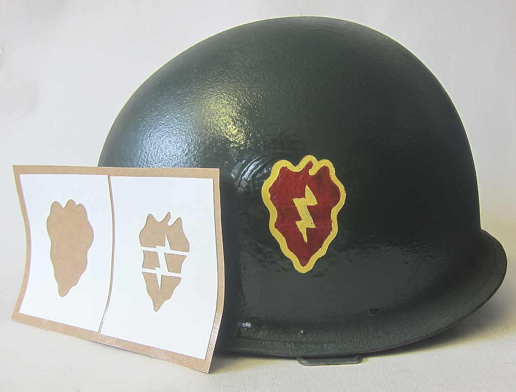 25th Infantry Division Helmet Stencil - WW2