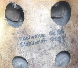 German Paratrooper Helmet Liner Size markings