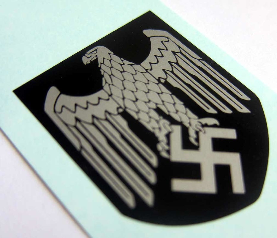 WW2 German Helmet Decal