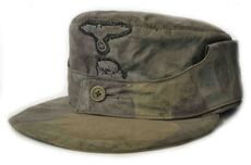 Hand Made Italian Telomimetico (M43 Type) Camo Field Made Waffen SS Cap - Aged