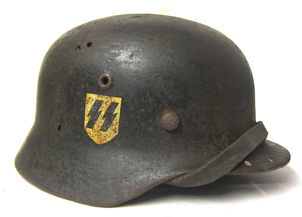 Leibstandarte SS Adolf Hitler Quist 68 Double Decal M40 Helmet