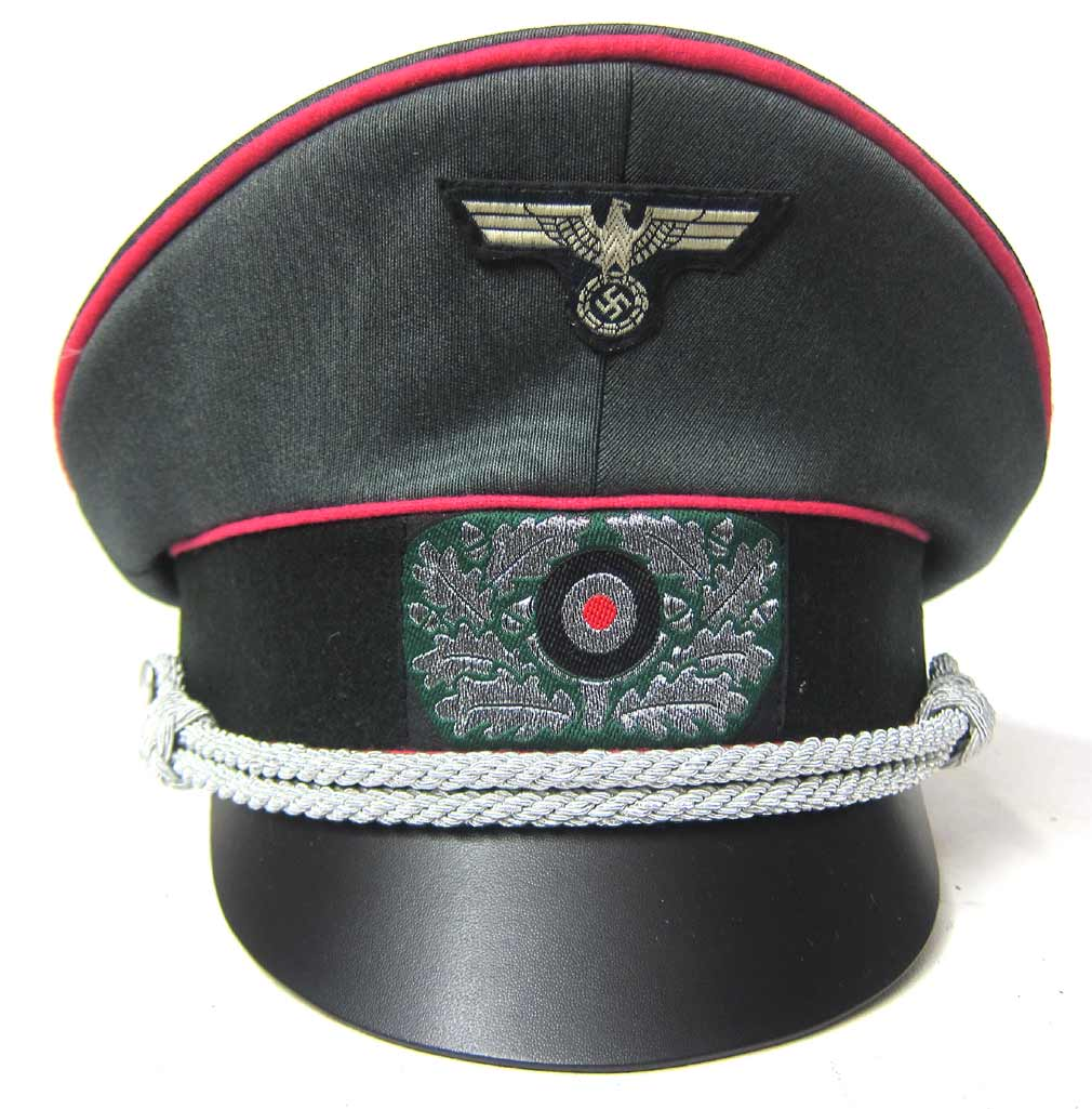 German Army Panzer Officers Crusher Cap