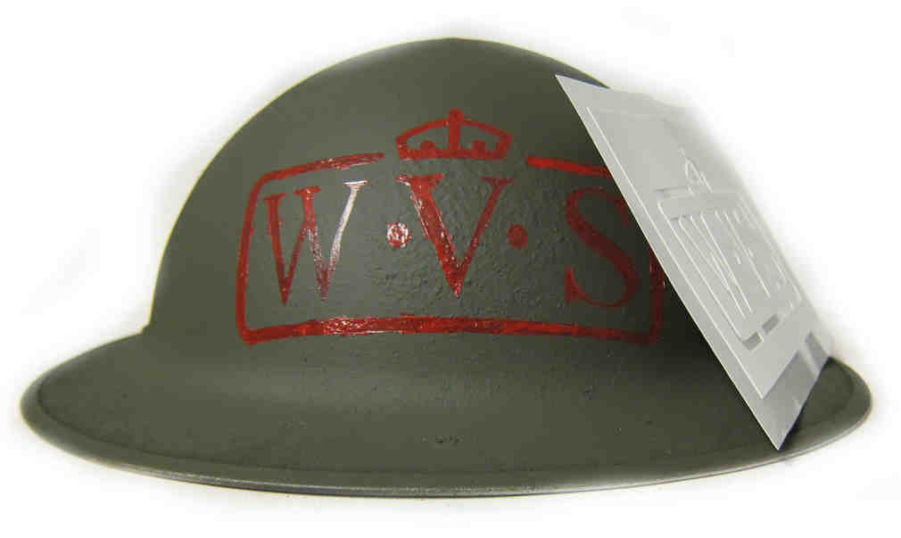 WW2 British WVS Helmet Stencil - Women's Voluntary Services Type #2