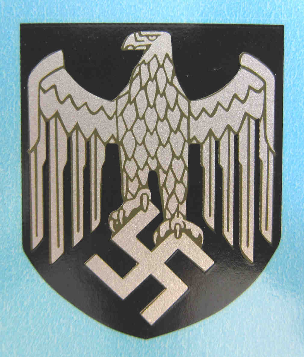 WW2 German Army Helmet Decal NS Eagle 1936 Onward