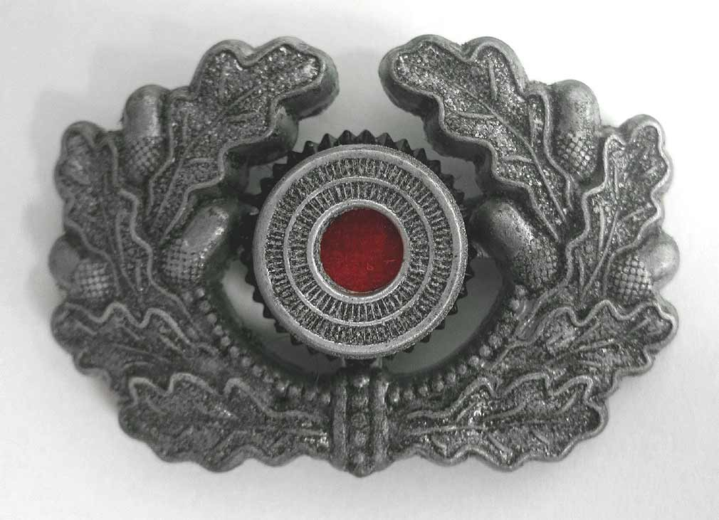 Heer Army Wreath in Aluminium Metal & Cockade - aged condition
