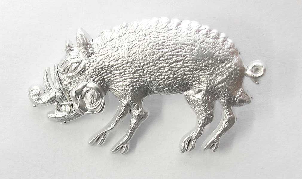 U-85 'Boar with Rose' U-Boat Cap Badge. New
