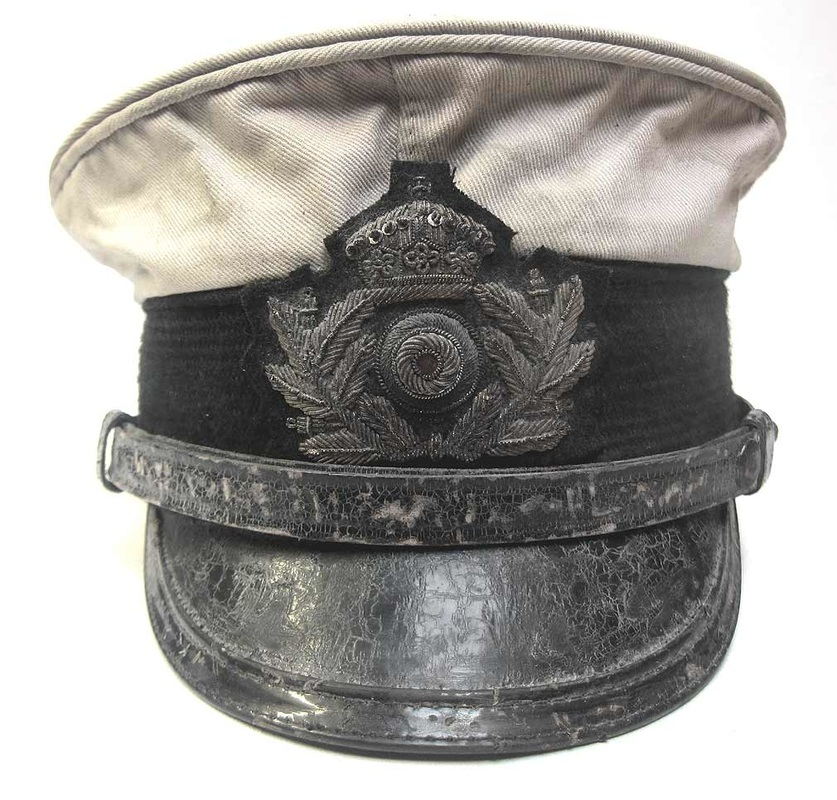 WW1 German Imperial Navy Officers Cap White Topped