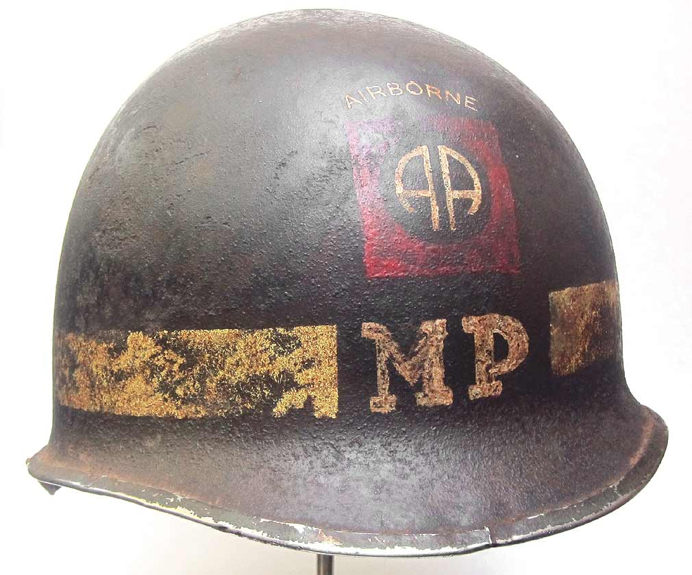 82nd Airborne Division MP Platoon Helmet WW2