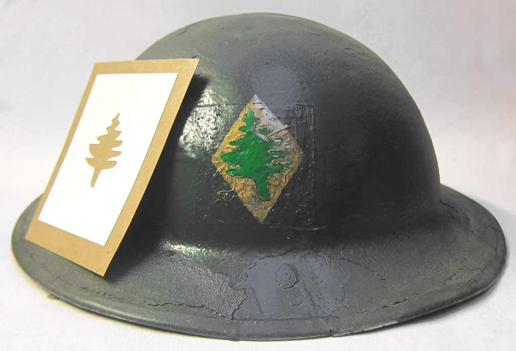 US WWI 26th Infantry Division 103d Infantry Helmet Stencil