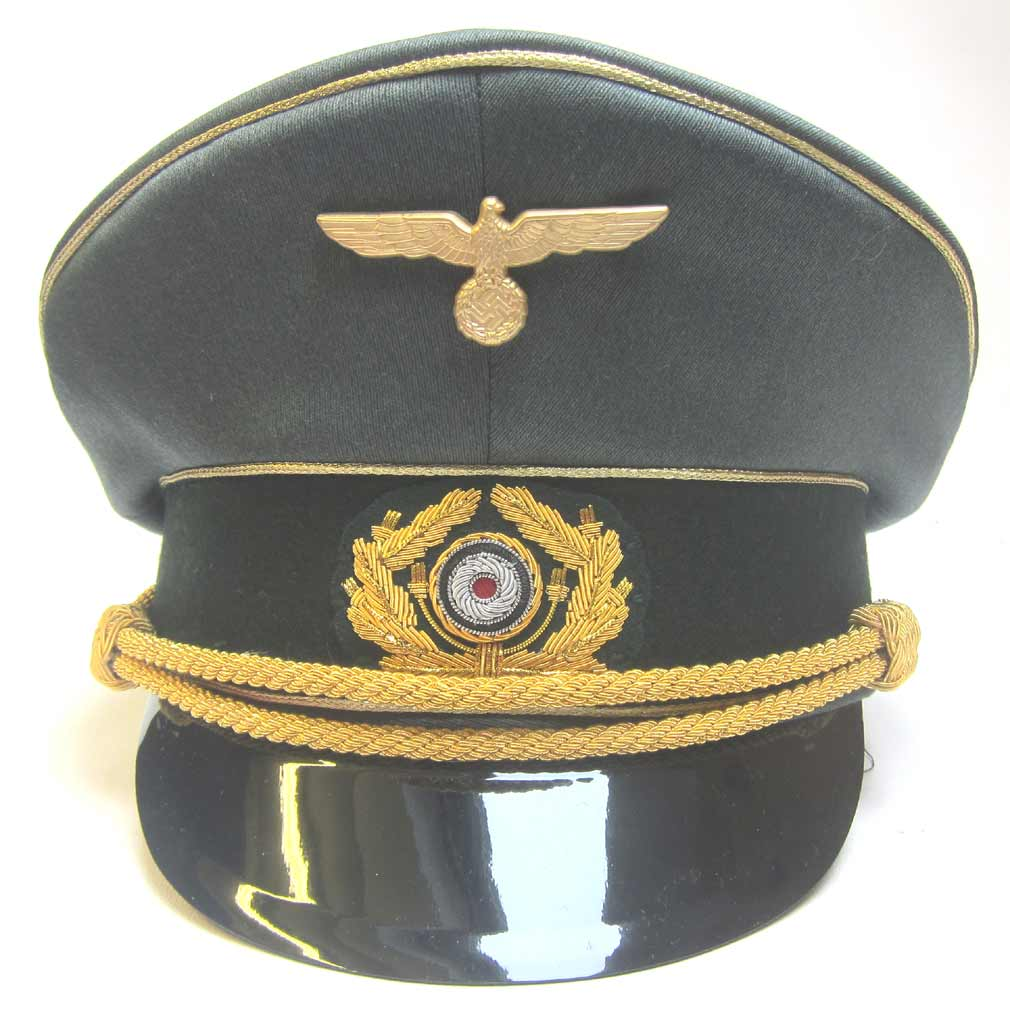 German Generals Peaked Cap - Gold Bullion