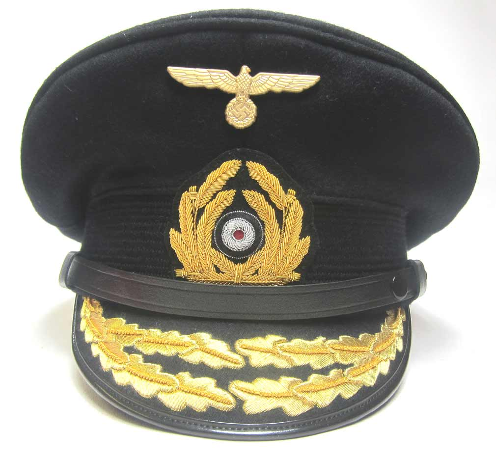 German Admirals Peaked Cap - Metal Eagle