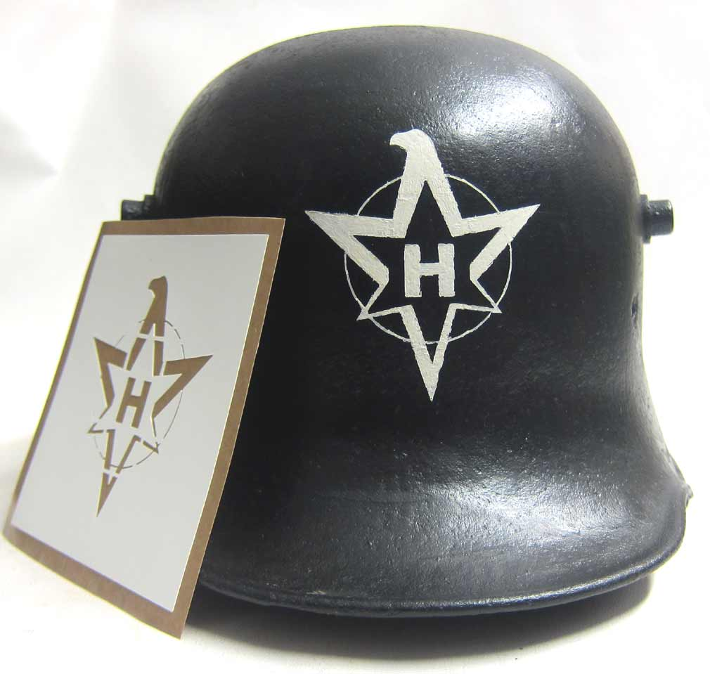 WW2 German Henschel & Son Helmet Factory stencil.