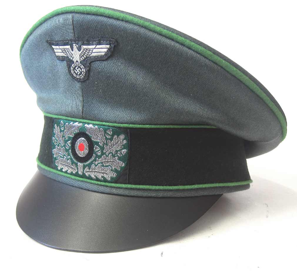 German Army Panzergrenadier Officers Crusher Cap EREL Maker - New Condition