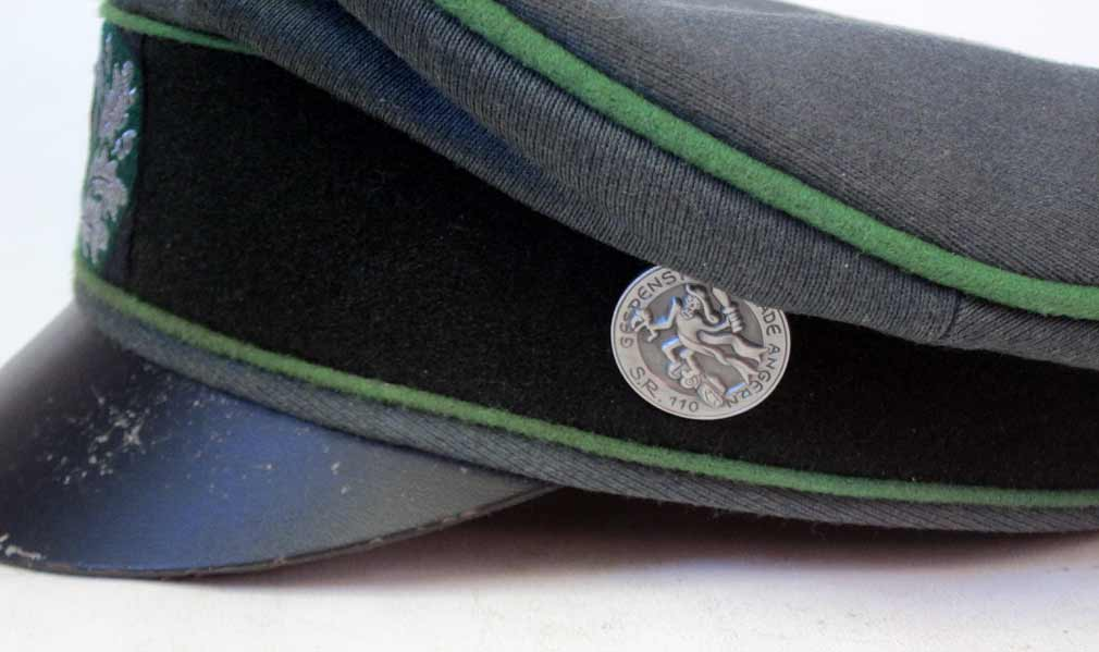 Panzergrenadier Officers Crusher Cap with Traditions Badge