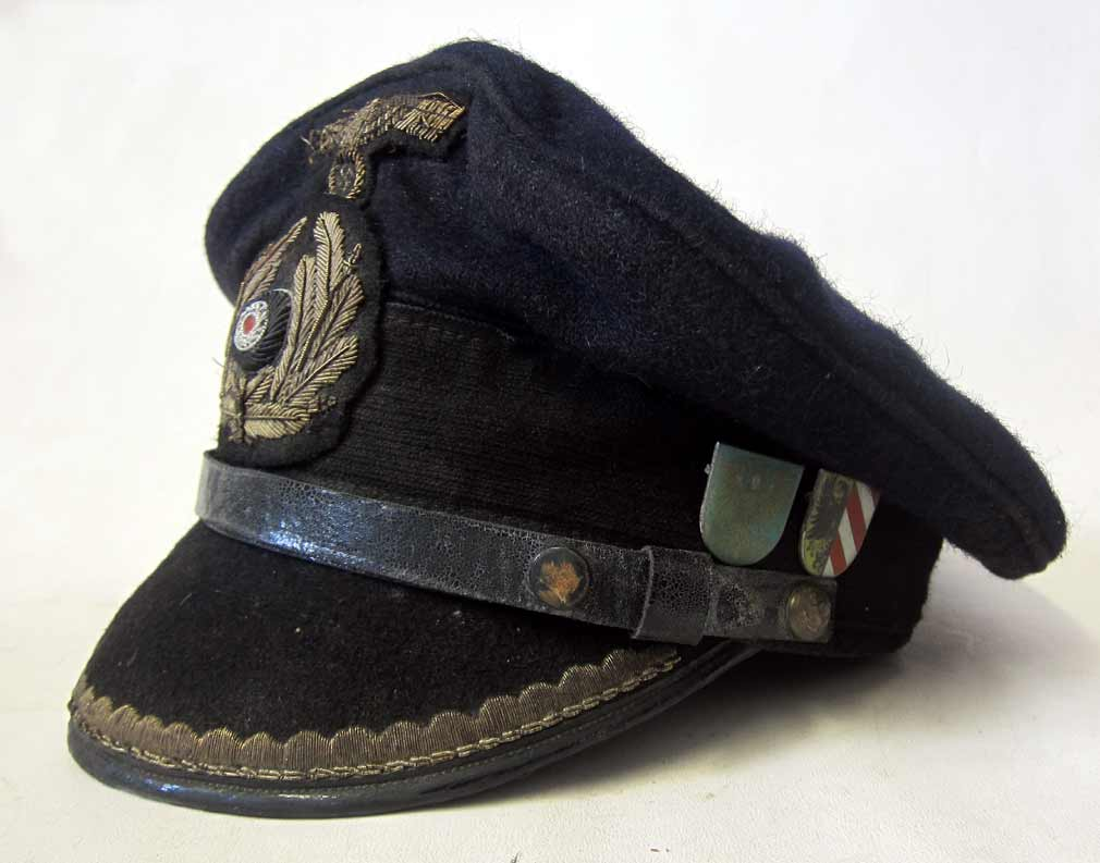 U-453 Chief Engineers U-Boat Cap - Aged