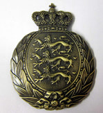 Danish Amalienborg M1939 Helmet Badge