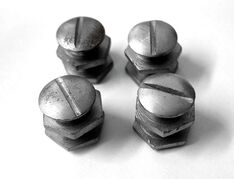 M38 Slotted Steel Helmet Bolts