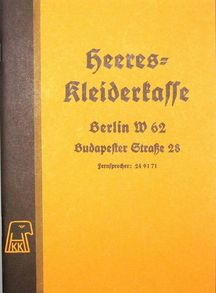 Heeres Kleiderkasse - German Uniform Catalogue - Reprint