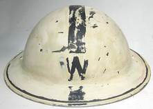 Wardens Helmet rear - paint removed