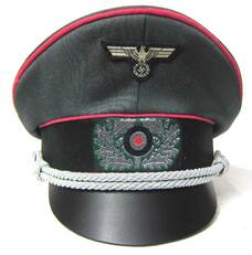 Heer Panzer Officer Crusher Cap