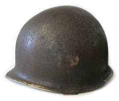M1 M2 Fixed Bale Field Repaired Helmet Possible Airborne Artillery
