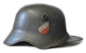 WW1 M18 'Cut Out' Double Decal Transitional Helmet with M31 WW2 Liner