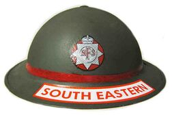 British WW2 NFS - National Fire Service Helmet Decal - South Eastern