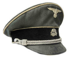 Waffen SS Officers Cap Aged