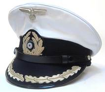 Kriegsmarine Korvettenkapitän Peaked Cap Removable White Top - NEW