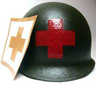 US Helmet Stencil USA Medical Red Cross version #4