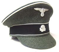 Waffen SS Crusher Cap Green Wool Peak