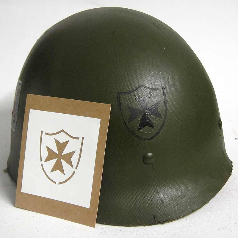 WW2 65th Infantry Regiment The Borinqueneers Helmet Stencil