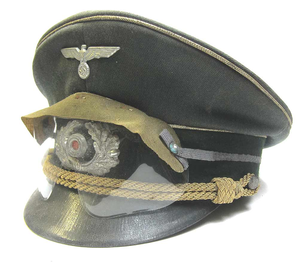 Erwin Rommels Peaked Cap With British Anti Gas Goggles Aged